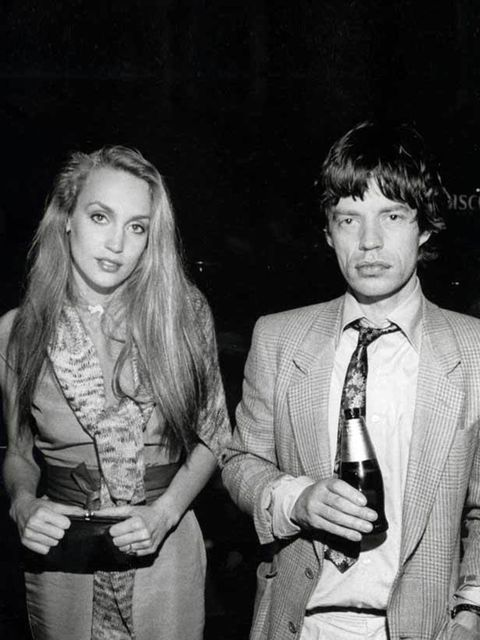 <p>Texas-born model Jerry Hall wed Mick Jagger in a Balinese ceremony in 1990, after years together. But in 1999, Jagger contested the validity of the union and received an annulment.</p>