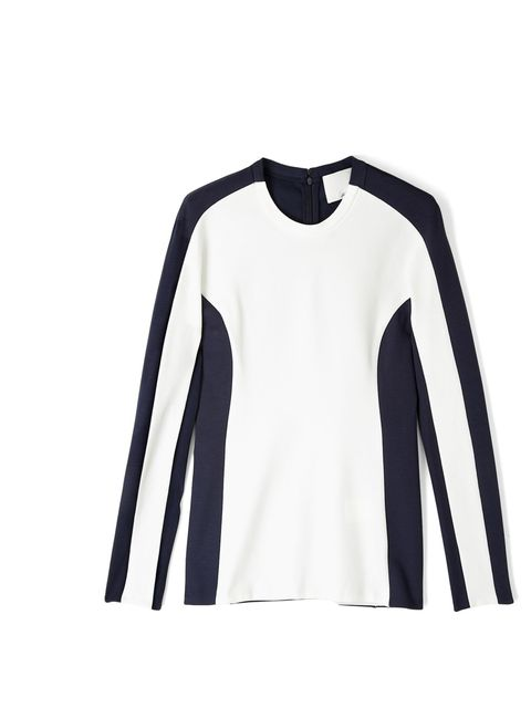<p>Alice Watt, Fashion Assistant: 'The January Sales are the perfect time to snap up next season's trends for less. Which is why this sport infused monochrome top is perfect- ticking two trends in one, it's the epitome of an investment buy and will last f