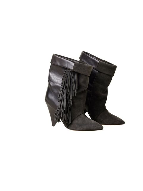<p>Fringed, suede, clippy-cloppy boots. What's not to love?</p><p>Boots, £149.99</p>