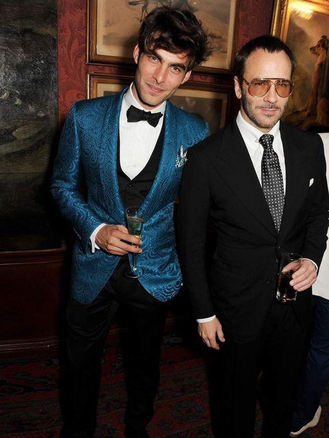 "<p>Tom Ford and model Jon Kortajarena at the <a href=""http://www.elleuk.com/catwalk/designer-a-z/tom-ford/autumn-winter-2013"">Tom Ford</a> Mens Grooming Collection launch at Mark's Club on 18 June 2013.</p>"
