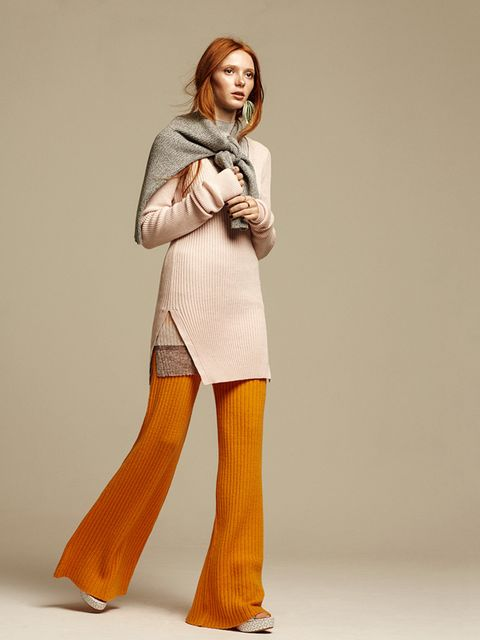 <p>Trousers, £300, Creatures of Comfort<br /> Jumper £109, Baum Und Pferdgarten<br /> Jumper (around shoulders) £36, Topshop<br /> Sandals, £515, Tabitha Simmons</p>  <p>Photography: Cameron McNee<br /> ?Styling: Harriet Stewart</p>