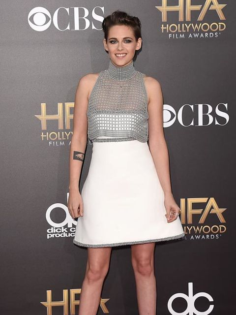 <p>Kristen Stewart wears Chanel Couture at the Hollywood Film Awards in LA, November 2014.</p>