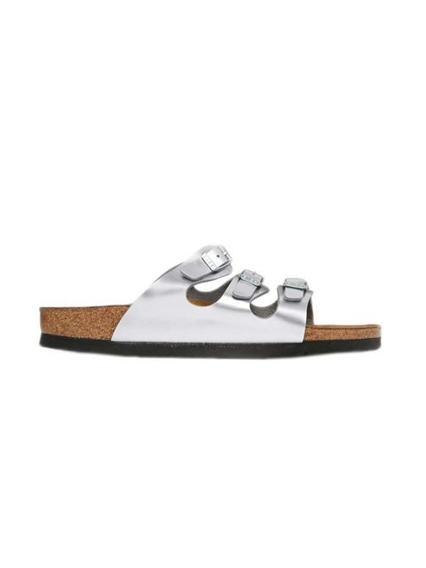 """<p>Acting Features Assistant Maybelle Morgan is refusing to don winter boots just yet...</p>  <p></p>  <p>Birkenstock sandals, £59.50 at <a href=""""http://www.asos.com/Birkenstock/Birkenstock-Florida-Steel-Silver-Metallic-Flat-Sandals/Prod/pgepr"""