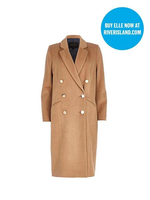 "<p>Classic camel is always in style. And now, while you're shopping at River Island, you can pick up the latest issue of ELLE. Two birds...</p>  <p><a href=""http://www.riverisland.com/women/coats--jackets/coats/Camel-double-breasted-midi-coat-660160"" targ"
