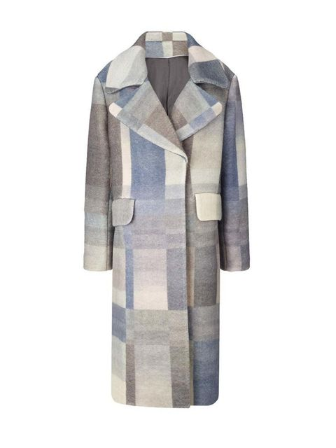 "<p>Part modern minimalism, part technicolour dreamcoat.</p>  <p><a href=""http://www.whistles.com/women/clothing/coats-jackets/hoshi-check-coat.html?dwvar_hoshi-check-coat_color=Multicolour"" target=""_blank"">Whistles</a> coat, £450</p>"