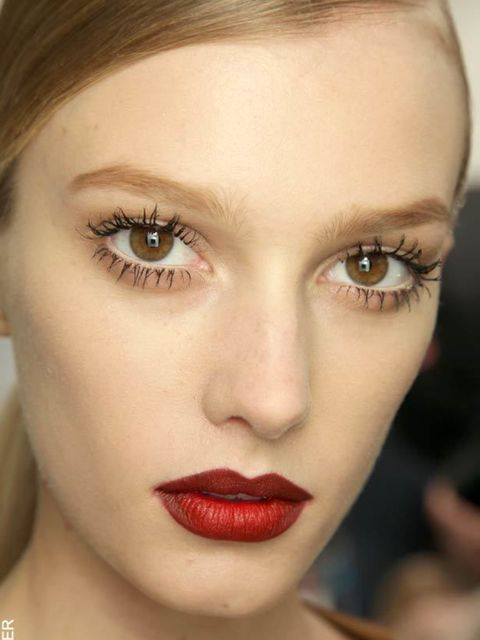 <p>Red lips seen at Gucci, autumn/winter 2011.</p>