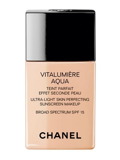 "<p><a href=""http://www.selfridges.com/en/chanel-vitalumiere-aqua-ultra-light-skin-perfecting-makeup-instant-natural-radiance-spf-15_437-73004626-VITALUMIEREAQUA/?previewAttribute=Beige"" target=""_blank"">Chanel Vitalumière Aqua Ultra–Light Skin Perfecting F"