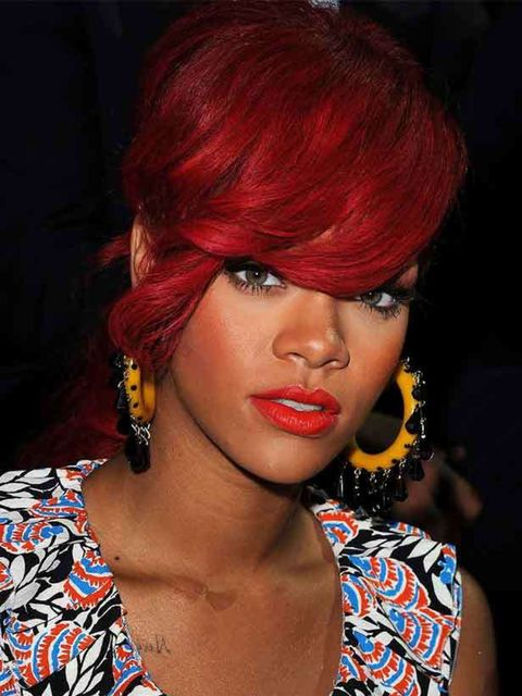 "<p>Paris Fashion Week, October 2010</p><p><a href=""http://www.elleuk.com/beauty/beauty-notes-daily/rihanna-s-make-up-secrets"">Read Rihanna's make-up tips and secrets...</a></p>"