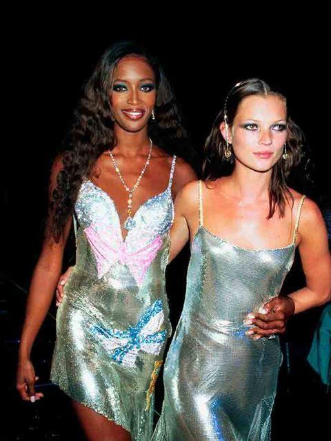 <p>Naomi Campbell and Kate Moss</p>