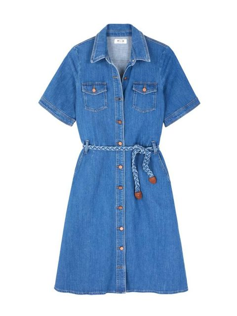 """<p>Our dream summer dress. We'll layer it over a fine-knit rollneck while it's still chilly.</p>  <p><a href=""""http://www.mih-jeans.com/dresses-skirts/70s-denim-dress-dream-wash.html?___SID=U"""" target=""""_blank"""">MiH</a> dress, £295</p>"""