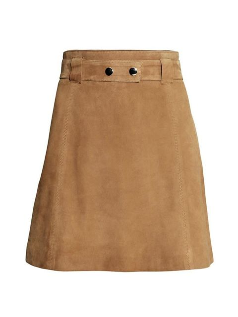 """<p>The 70s trend is one that we can't wait to wear - starting with this suede skirt.</p>  <p><a href=""""http://www.hm.com/gb/product/89395?article=89395-B"""" target=""""_blank"""">H&M</a> skirt, £99.99</p>"""
