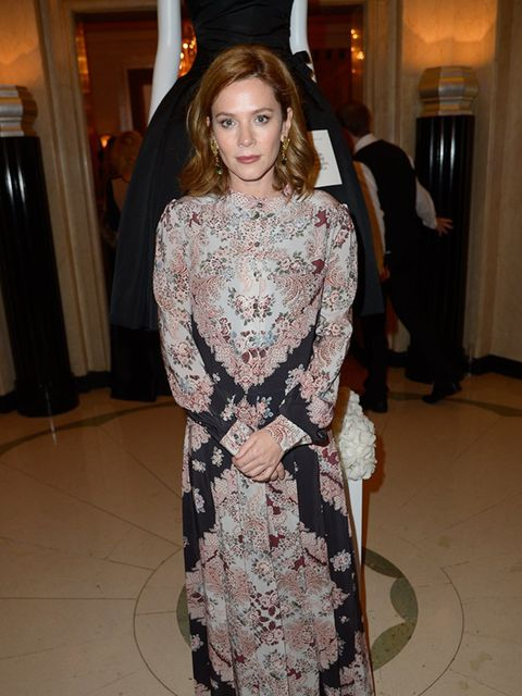 <p>Anna Friel attends the WilliamVintage Dinner during London Fashion Week, September 2015.</p>