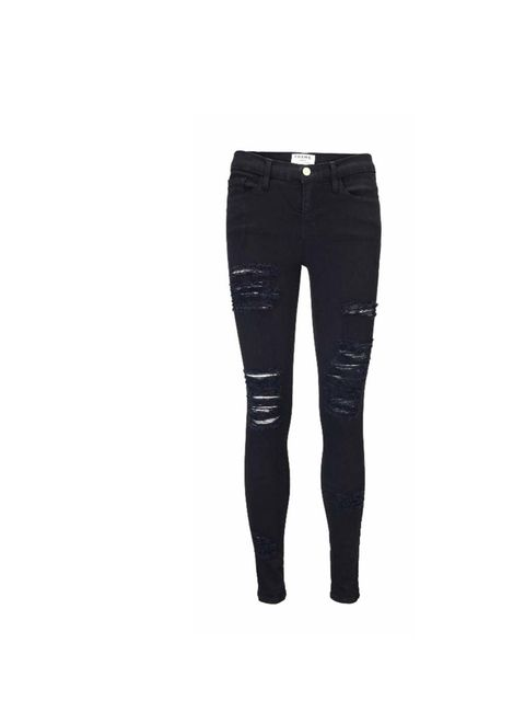 "<p>Pair these ripped jeans with a crisp button down shirt and a tailored jacket for an office-friendly take on this season's grunge trend.</p><p>Frame Denim jeans, £205 at <a href=""http://www.trilogystores.co.uk/frame-denim/le-color-ripped-in-noir.aspx"">T"