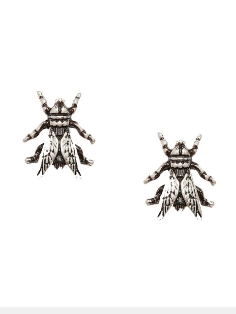 """<p>Fashion Intern Emi Papanikola will be sporting these bug beauties.</p>  <p></p>  <p>Cheap Monday Earrings, £10 at <a href=""""http://www.asos.com/Cheap-Monday/Cheap-Monday-Fly-Earrings/Prod/pgeproduct.aspx?iid=5341744&cid=6992&sh=0&pge=0&pgesize=204&sor"""