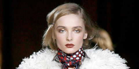 """<p>  </p><p>First up was <a href=""""http://features.elleuk.com/fashion_week/90-3-Dolce-&amp;-Gabbana-autumn-winter-2008.html"""">Dolce and Gabanna</a> who's mainline show was a seamless expansion of the trends already introduced in their <a href=""""http://featur"""
