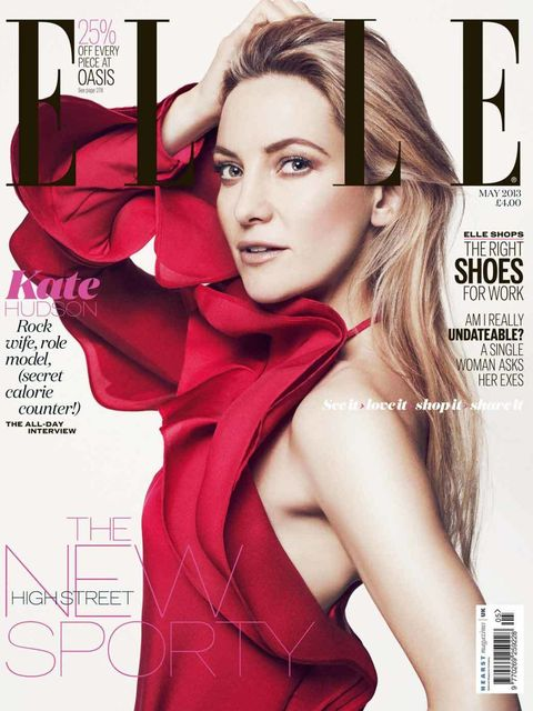 <p>ELLE's May cover star Kate Hudson</p>