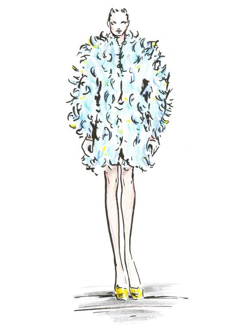 <p>A sketch of Look 5 from Nicholas Oakwell's S/S '12 couture collection.</p>