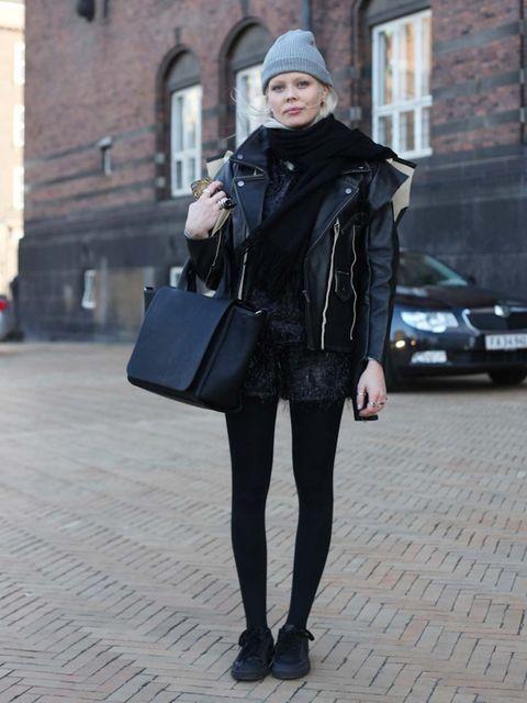 <p>AmandaMargiela for H&M jacket, Zara bag.</p>