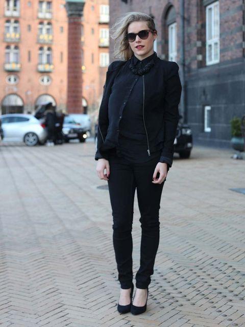<p>TinaZara jacket, Levi's trousers, vintage shoes.</p>