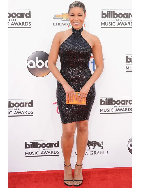 <p>Jordin Sparks wears Michael Costello at the 2014 Billboard Music Awards, May 2014.</p>