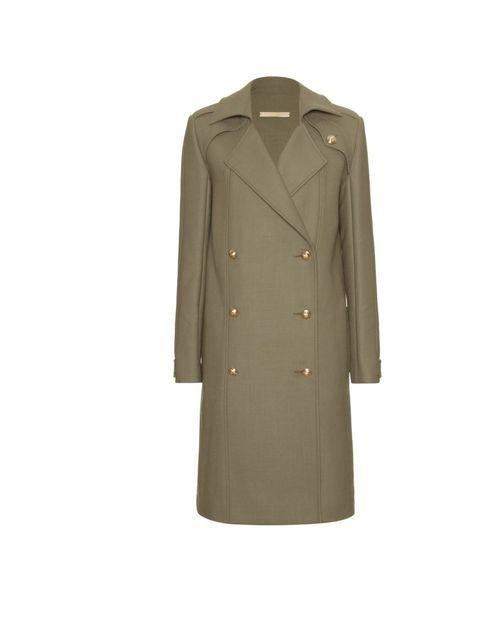 "<p>Victoria Beckham military coat, £2,450, at <a href=""http://www.mytheresa.com/uk_en/military-coat-166548.html"">mytheresa.com</a></p>"
