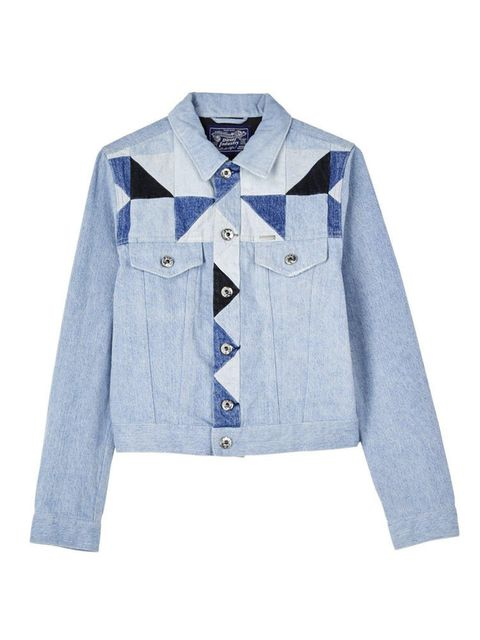 "<p>Diesel Jacket, £270 at v<a href=""http://www.veryexclusive.co.uk/diesel-roica-patchwork-denim-jacket-blue/1600054602.prd?_requestid=34145"" target=""_blank"">eryexclusive.co.uk</a></p>  <p>Wear now: throw this over your leather jacket: double the jacket, d"