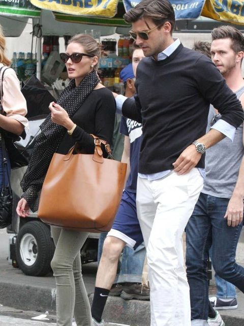 """<p><a href=""""http://www.elleuk.com/starstyle/style-files/(section)/olivia-palermo"""">Olivia Palermo</a> matches her olive jeans to her ballets in New York, 8 May 2011</p>"""