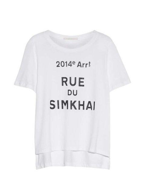 Layer under a boyfriend blazer.  Jonathan Simkhai t-shirt, £65 at Net-A-Porter