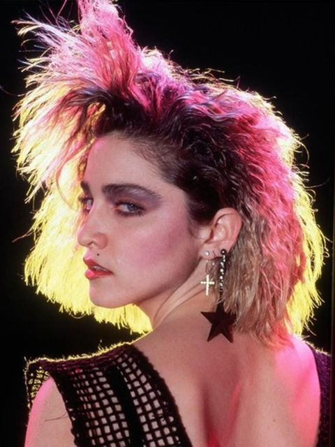 1983 A grunge-punk look for her Lucky Star video