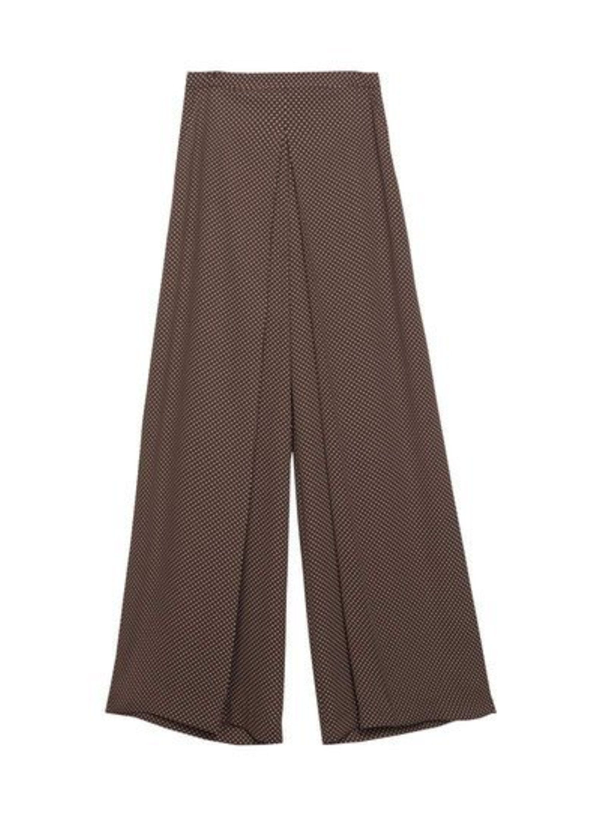 Pair wide-leg trousers with a cropped knit.  Zara trousers, £29.99