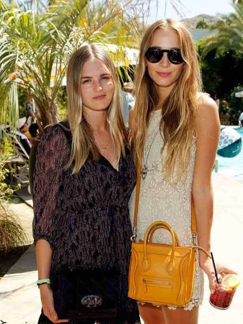 <p>Jazzy di Lisser & Harley Newton at the Coachella BBQ party thrown by Mulberry in Palm Springs, 16 April, 2011</p>