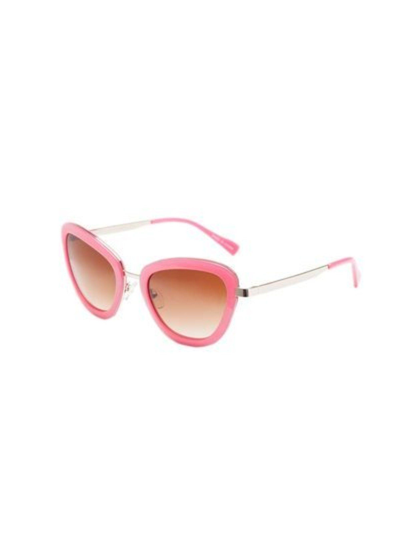 These retro sunglasses will lend a punch of colour to Designer Charlotte Wallace's wardrobe.  Uterqüe sunglasses, £69