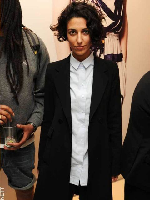 """<p>Trend forcaster <a href=""""http://www.elleuk.com/content/search?SearchText=Yasmin+Sewell"""">Yasmin Sewell</a> channels minimalism at the Mother of Pearl Pop Up Shop party in London, 12th April, 2011</p>"""
