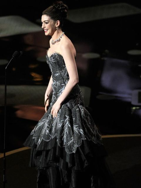 """<p><a href=""""http://www.elleuk.com/starstyle/style-files/%28section%29/anne-hathaway"""">Anne Hathaway</a> in <a href=""""http://www.elleuk.com/Search-Results?cx=007674681116717002309%3Asbbxt5zeani&amp&#x3B;cof=FORID%3A11&amp&#x3B;ie=UTF-8&amp&#x3B;q=armani+prive"""">Armani Prive"""