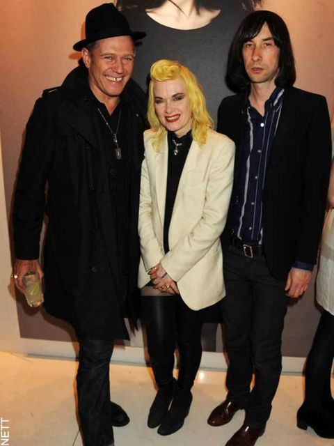 """<p>Paul Simonon, <a href=""""http://www.elleuk.com/starstyle/special-features/(section)/w-london-calling-party/(offset)/6/(img)/757679"""">Pam Hogg</a> & Bobby Gillisepe at the Mother of Pearl Pop Up Shop party in London, 12th April, 2011</p>"""