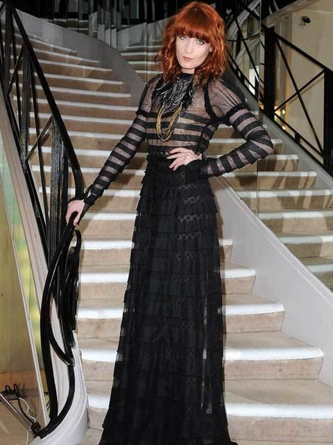 """<p><a href=""""Chanel%20Dinner,%20Paris%20Fashion%20Week,%20Hogan,%20Autumn/Winter%202011,%20Karl%20Lagerfeld,%20Chanel,%20Blake%20Lively"""">Florence Welch</a> attends the Chanel dinner hosted in Blake Lively's honour during Paris Fashion Week on March 5, 2011"""