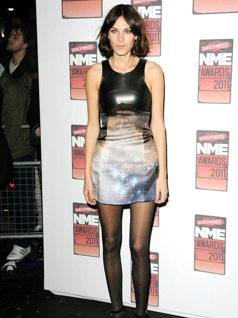 """<p><a href=""""http://www.elleuk.com/starstyle/style-files/%28section%29/Alexa-Chung"""">Alexa Chung</a> in <a href=""""http://www.elleuk.com/catwalk/collections/christopher-kane/autumn-winter-2011/review"""">Christopher Kane</a> at the NME Awards, 23 February 2011</"""