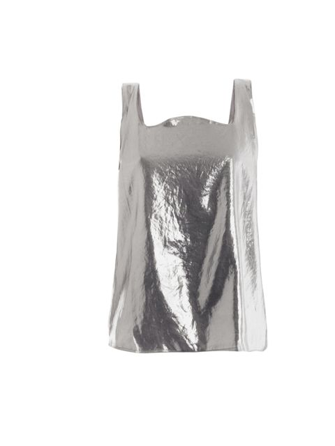 "<p>Is it a bag, is it a top? We love MM6's playful yet oh-so-cool aesthetic... MM6 metallic cami top, £158, at Matches</p><p><a href=""http://shopping.elleuk.com/browse?fts=mm6+metallic+top"">BUY NOW</a></p>"