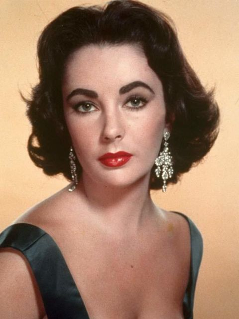 """<p> </p><p><a href=""""http://www.elleuk.com/fashion/special-features/bridal-icons"""">Elizabeth Taylor</a> pictured here in 1957 was known for her penchant for diamonds</p>"""
