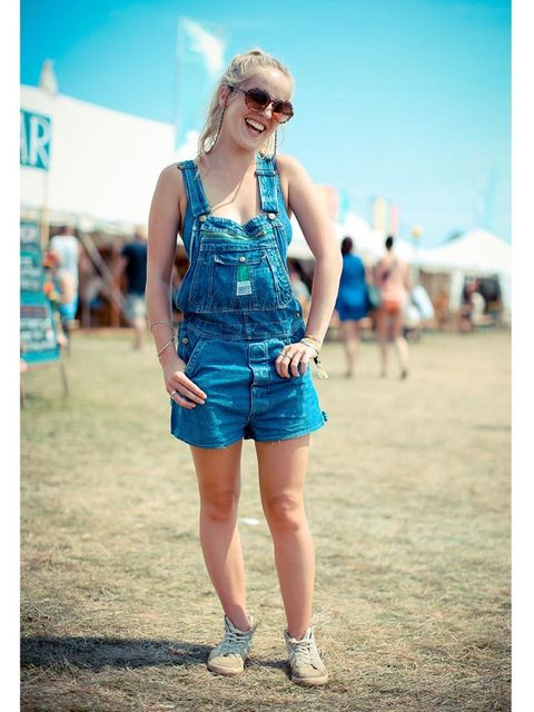 Sophie wears Liberty dungarees, Gola trainers, ASOS sunglasses.