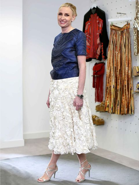 <p>Meribeth Parker - Group Publishing Director.</p><p>Jenny Packham skirt, Jimmy Choo shoes.</p>