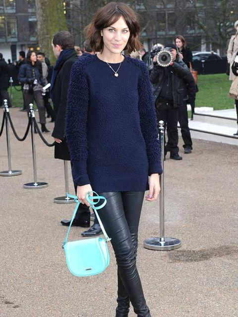 "<p> <a href=""http://www.elleuk.com/starstyle/style-files/%28section%29/Alexa-Chung"">Alexa Chung</a> at the Burberry AW11 show in London, 21 February 2011</p>"
