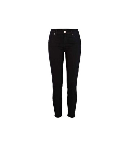 """<p>A pair of black skinny jeans is always an unmistakable option.</p><p>Get these from <a href=""""http://www.riverisland.com/women/jeans/skinny-jeans/Black-Amelie-superskinny-jeans-642408"""">River Island,</a> £30</p>"""