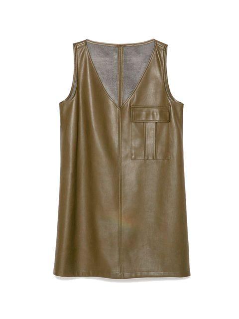 """<p><a href=""""http://www.zara.com/uk/en/trf/dresses/faux-leather-dress-c358031p2524593.html"""" target=""""_blank"""">Zara</a> dress, £25.99</p>"""