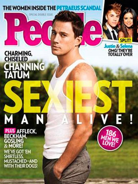 <p>The beefcake that is Channing Tatum muscles in to win 2012's crown.</p>