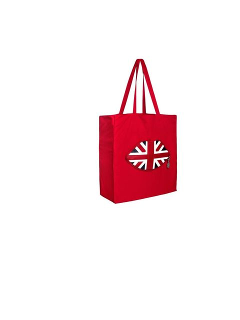"""<p><a href=""""http://www.luluguinness.com/ProductPage.aspx?productId=LUGG-300-001-106"""">Lulu Guinness</a> Union Jack foldaway tote, £45</p>"""