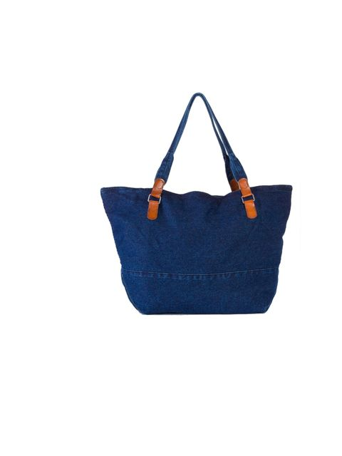 """<p><a href=""""http://store.americanapparel.co.uk/rsadm503.html?cid=49-1875"""">American Apparel</a> large denim carry-all, £56</p>"""