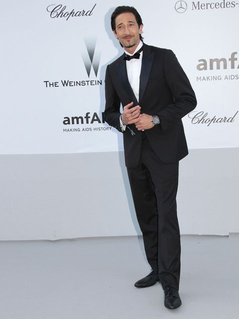 <p>Adrien Brody at the amfAR Gala 2012 during the Cannes Film Festival 2012</p>