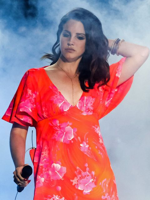 Lana performing at Coachella in 2014