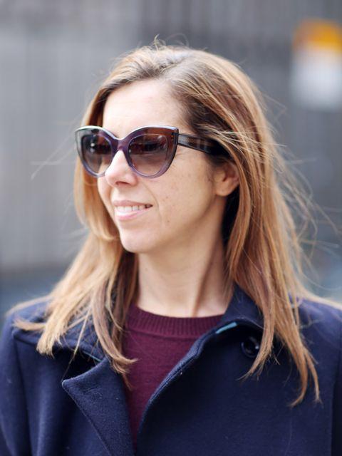 <p>Kirsty Dale - Executive Fashion & Beauty Director</p><p>M&S Coat, Gap jumper and Bottega Veneta sunglasses.</p>
